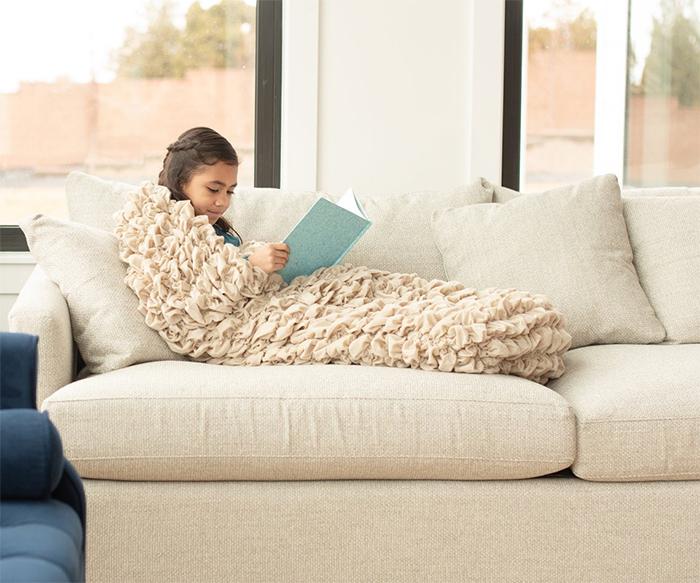 cozy sleep sack tan
