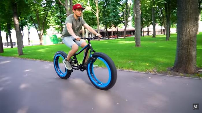 diy hubless bicycle