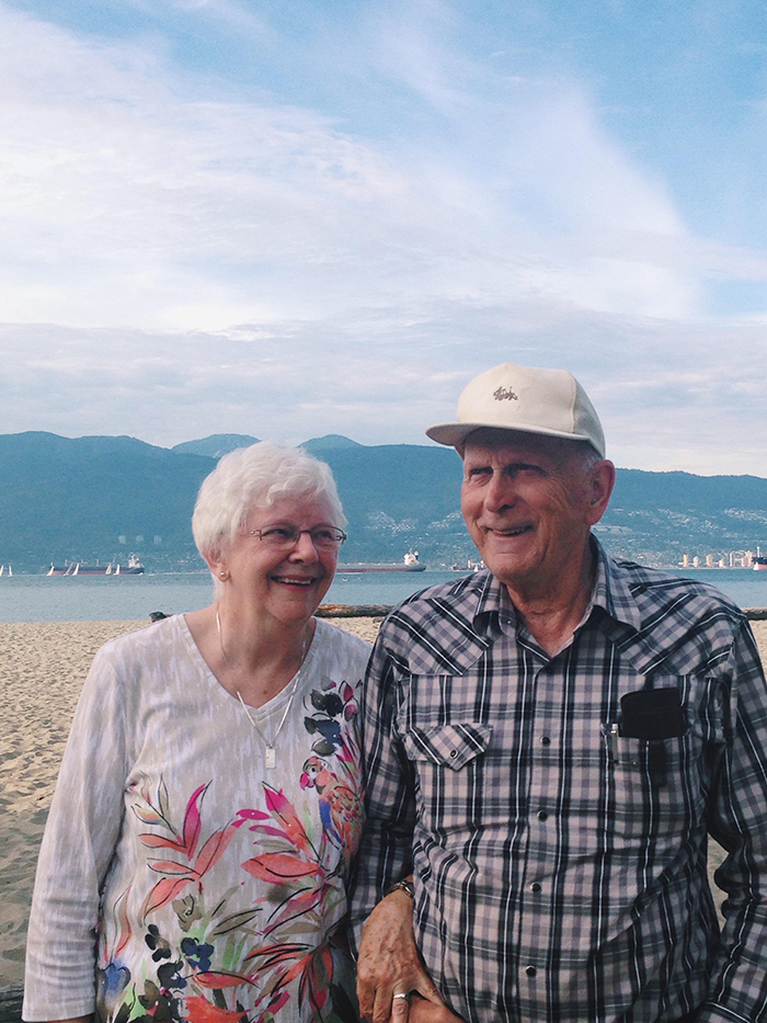 elderly couple getting back together after 65 years