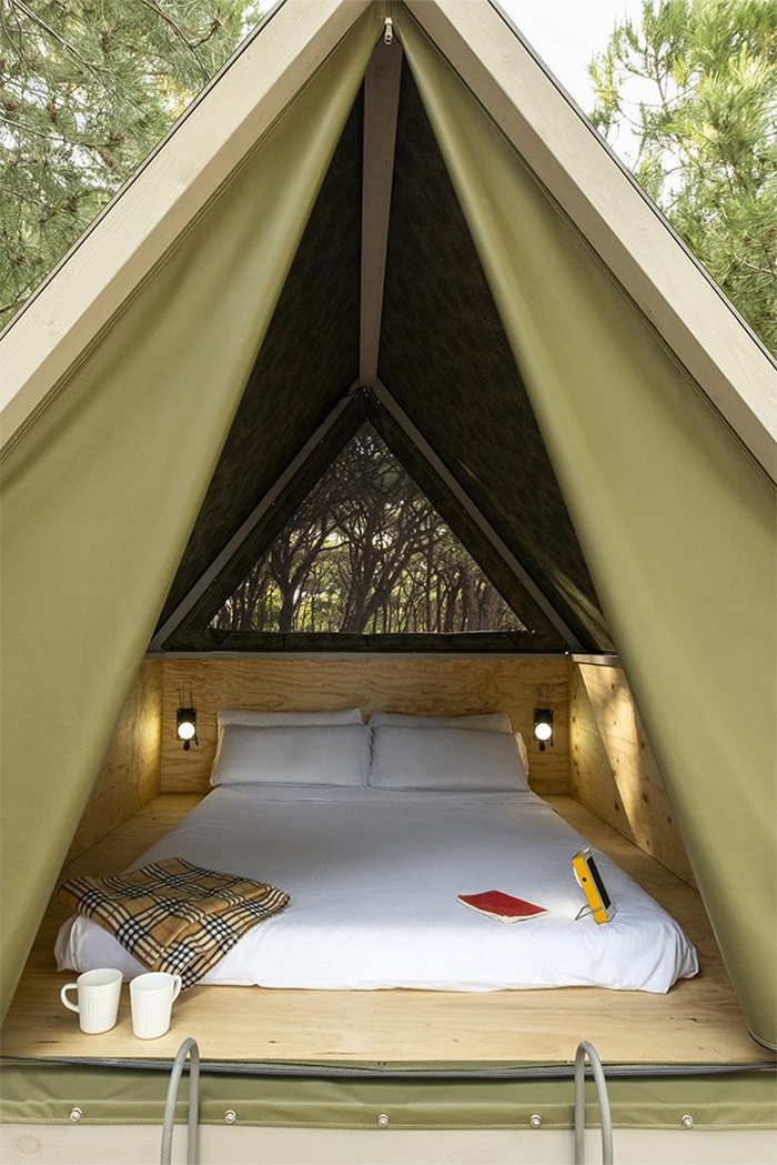elevated mini cabin interior