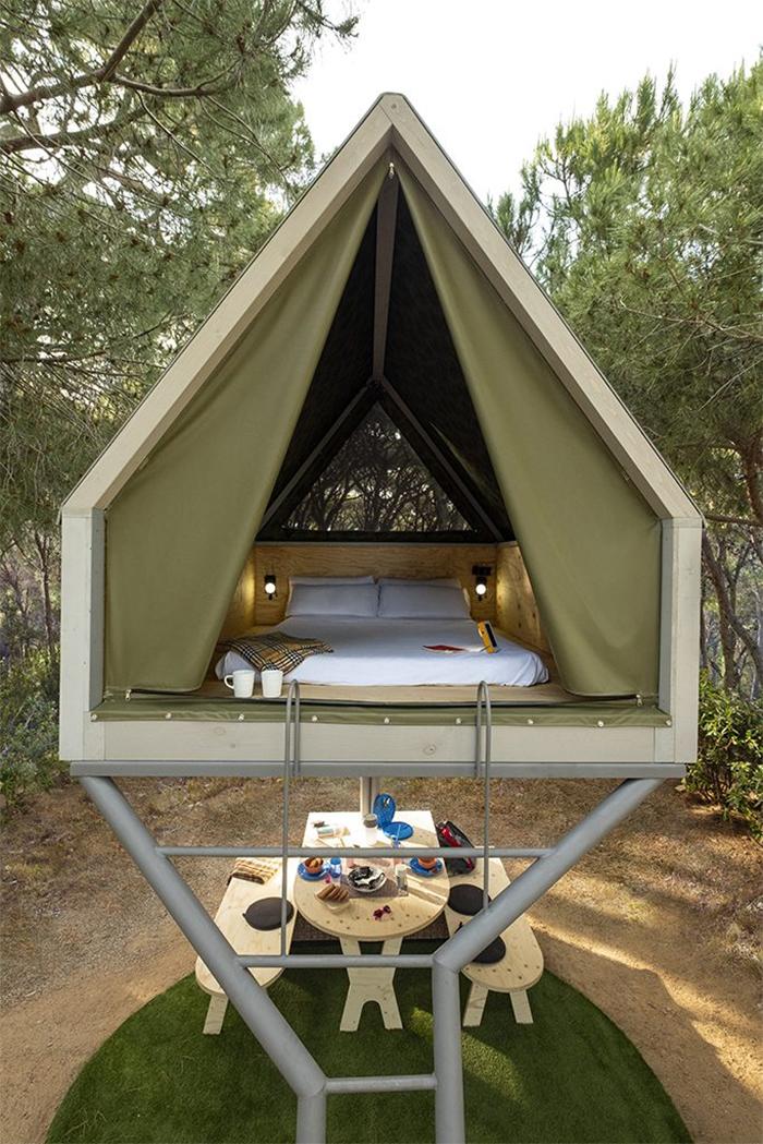 elevated mini cabin two-person