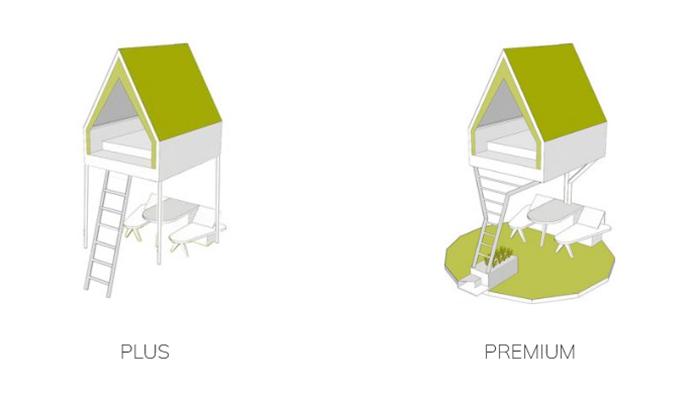 elevated mini cabin versions