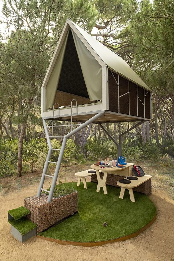 elevated mini cabin