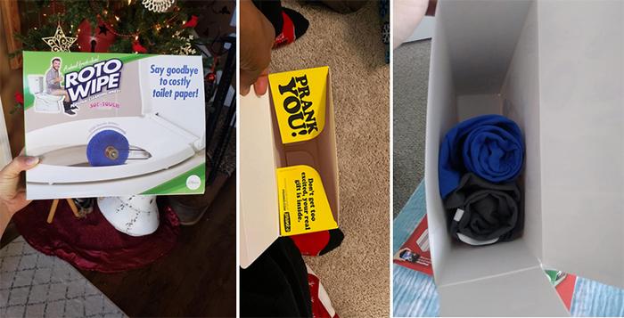 empty prank box hidden real gift inside