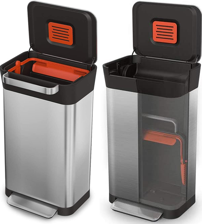 garbage can compaction system 90 liters