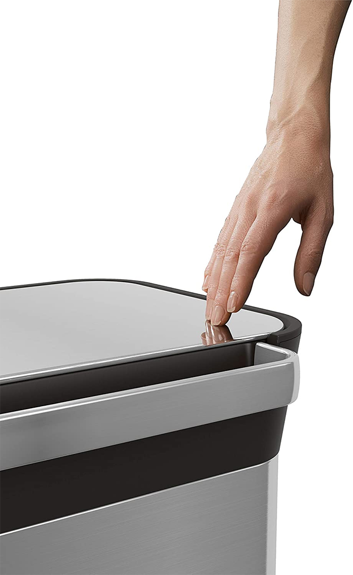 garbage can compaction system fingerprint proof