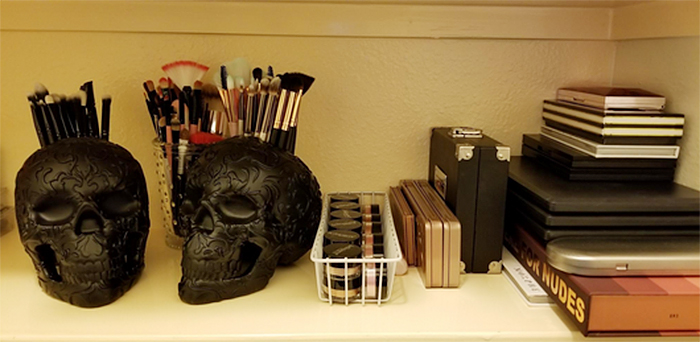 gothic themed vanity accessories