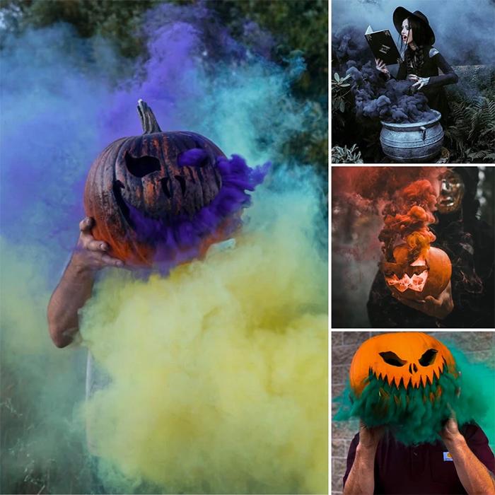 halloween smoking jack-o-lantern