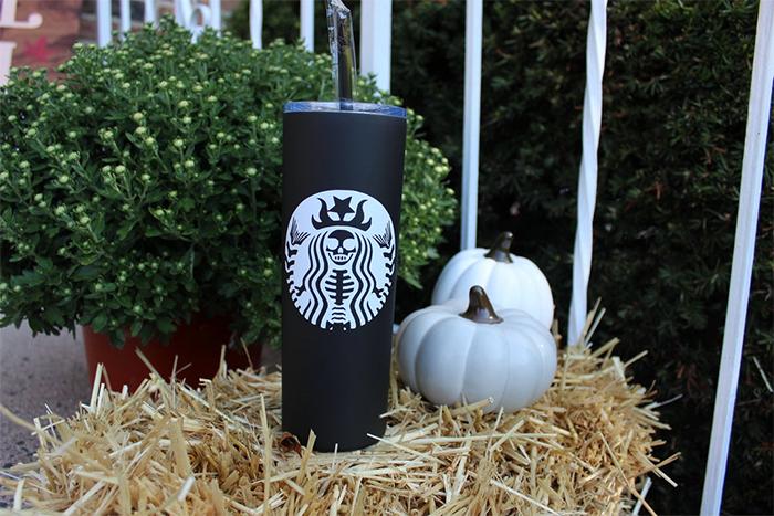halloween-themed thermal bottle starbucks
