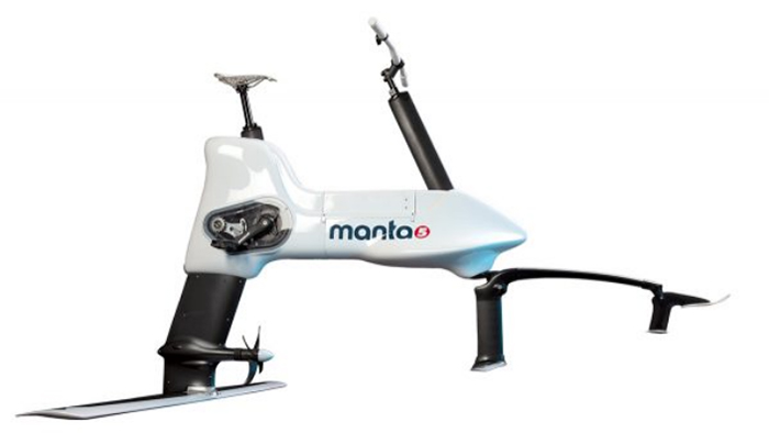 hydrofoil e-bike sleek design