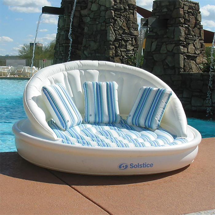 inflatable couch clamshell shape