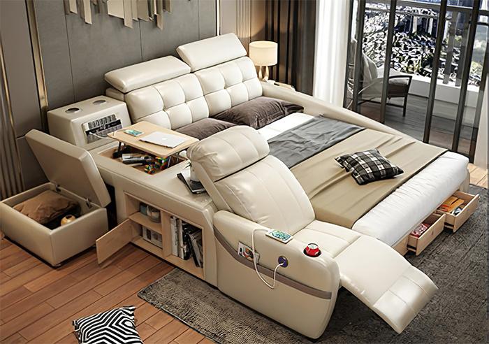 jubilee furniture monica all-in-one smart bed beige