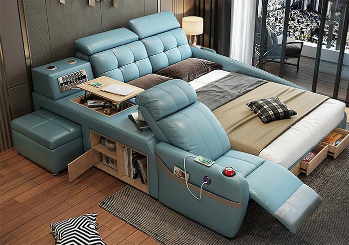 jubilee furniture monica all-in-one smart bed blue