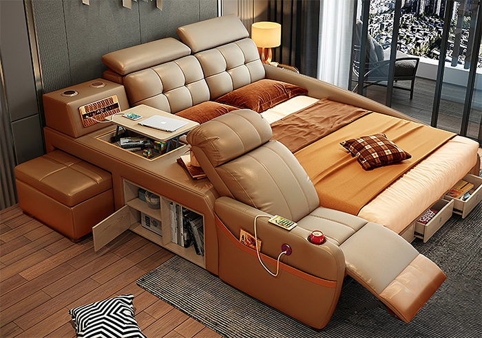 jubilee furniture monica all-in-one smart bed brown