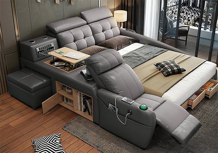 jubilee furniture monica all-in-one smart bed grey