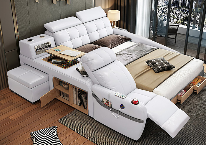 jubilee furniture monica all-in-one smart bed white