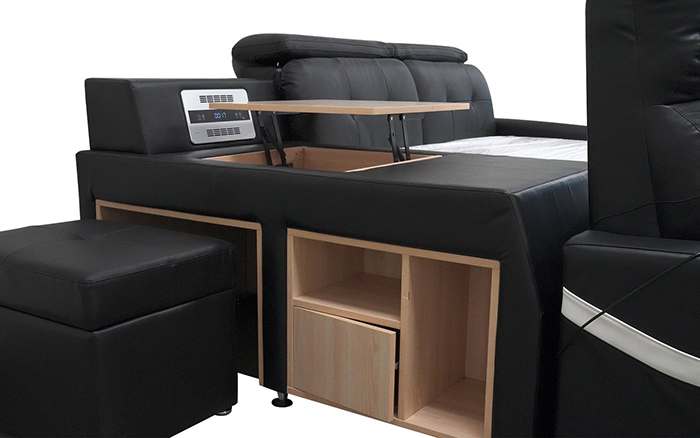 jubilee furniture monica multifunctional sleeping furniture built-in nightstand and shelf