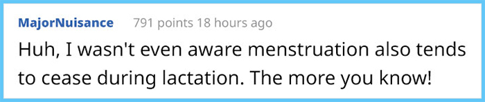 majornuisance reddit comment why women have periods