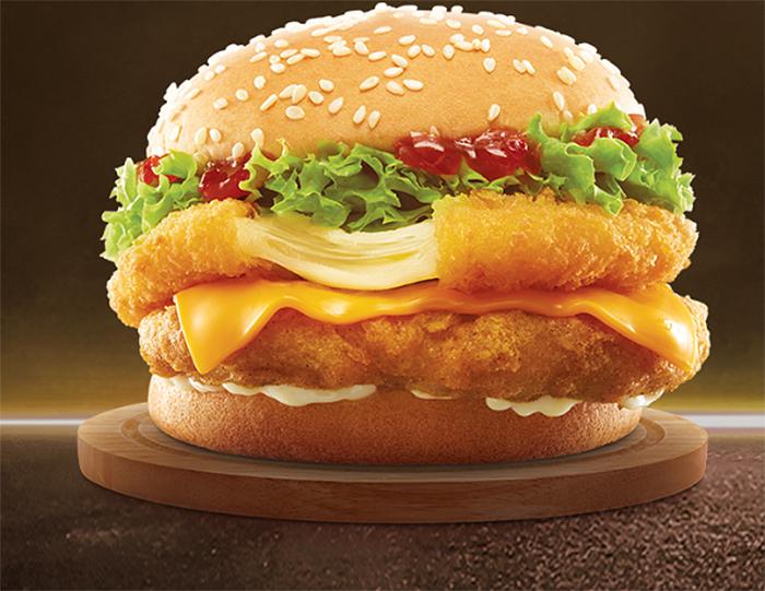 mcdonalds chick n cheese burger