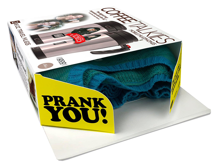 mobile mugphone prank gift box real gift inside