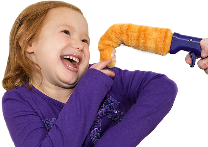 orange tabby bending toe novelty