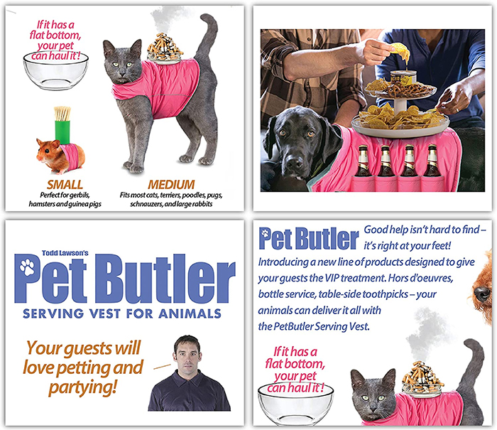 pet butler serving vest prank gift box