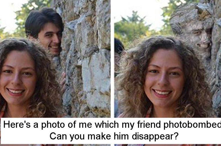 Photoshopped literally