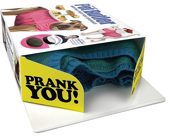 prank gift box serving vest for animals