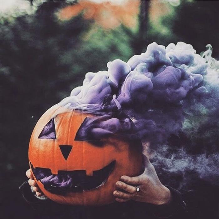 pumpkin smoke bombs halloween