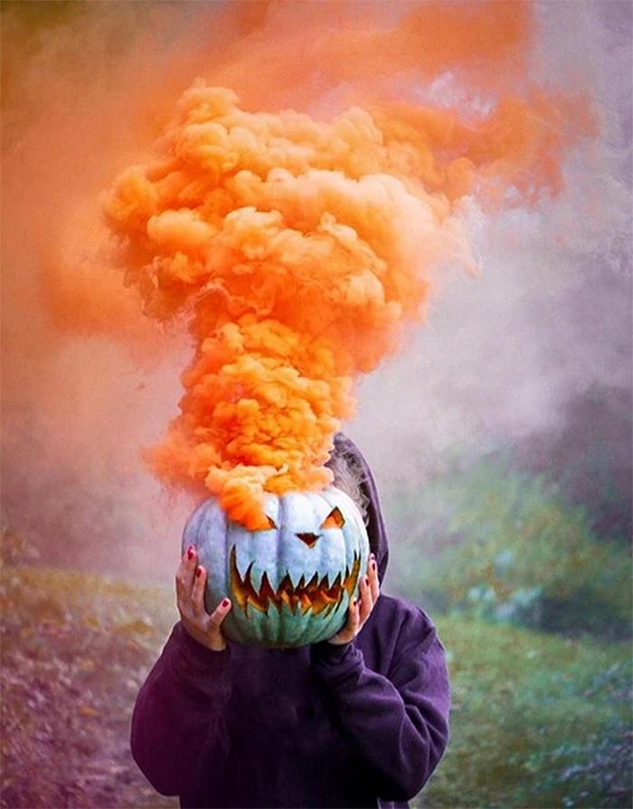 pumpkin smoke bombs orange