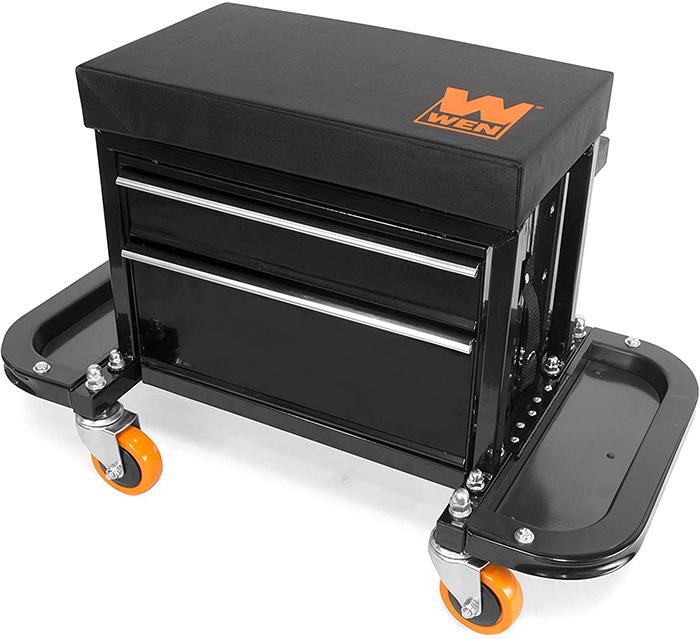 rolling tool box seat 400-lb capacity