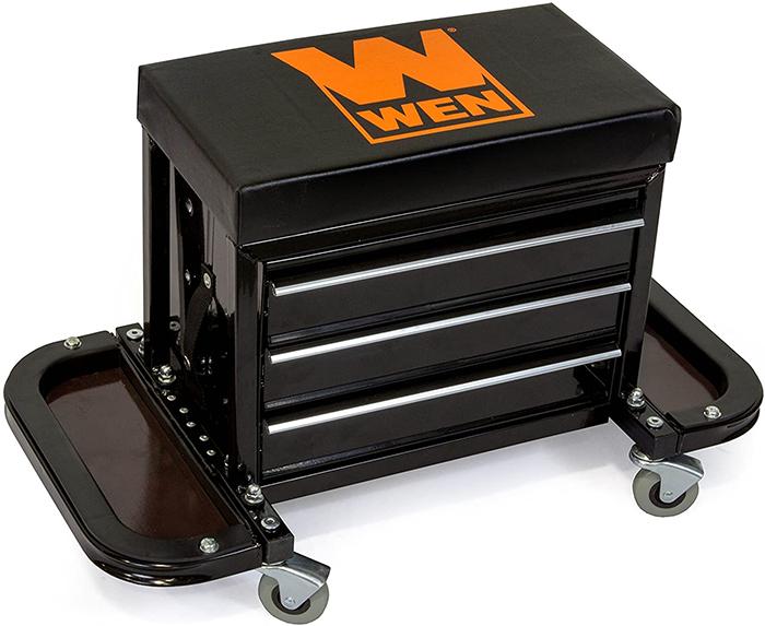 rolling tool box seat