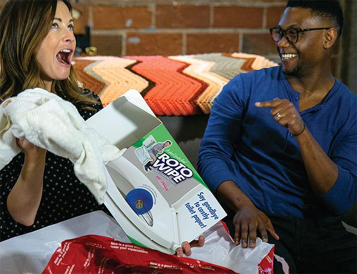 roto wipe prank gift box