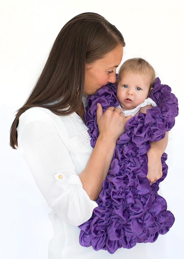 soft sleep sack for babies purple
