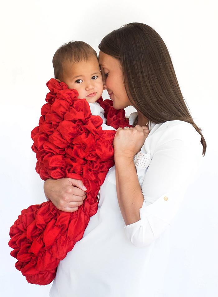 soft sleep sack for babies red