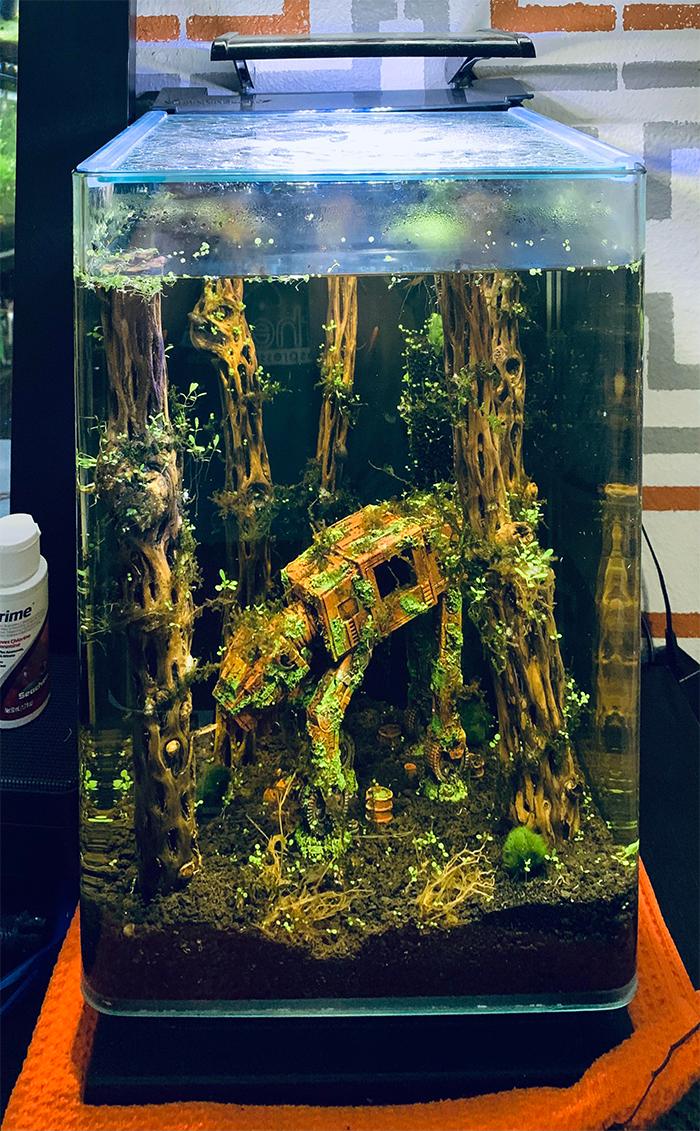 star wars-themed fish tank