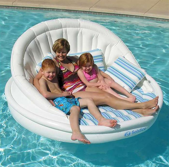three-person floating sofa