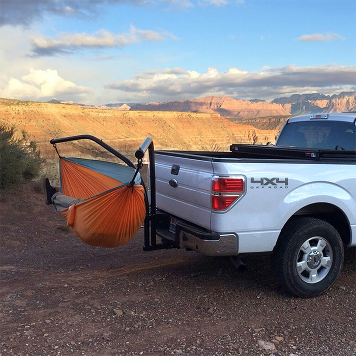 trailer hitch hammock stand hanging parachute bed