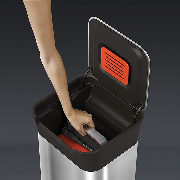 trash compactor bin compaction system