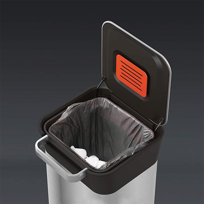 trash compactor bin odor filter