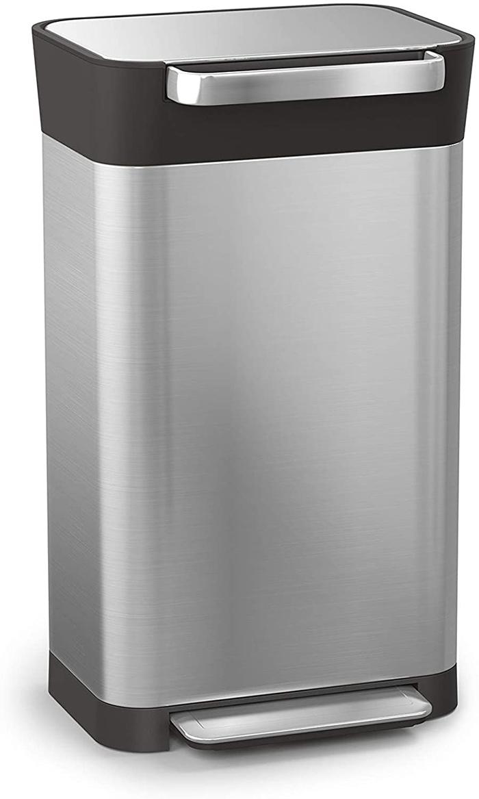 trash compactor bin stainless steel 90 liters