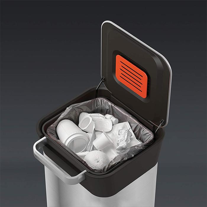 trash compactor bin stainless steel