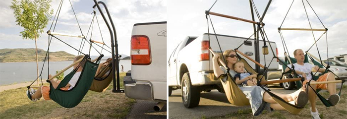 truck suv tailgate attachment for hanging chairs