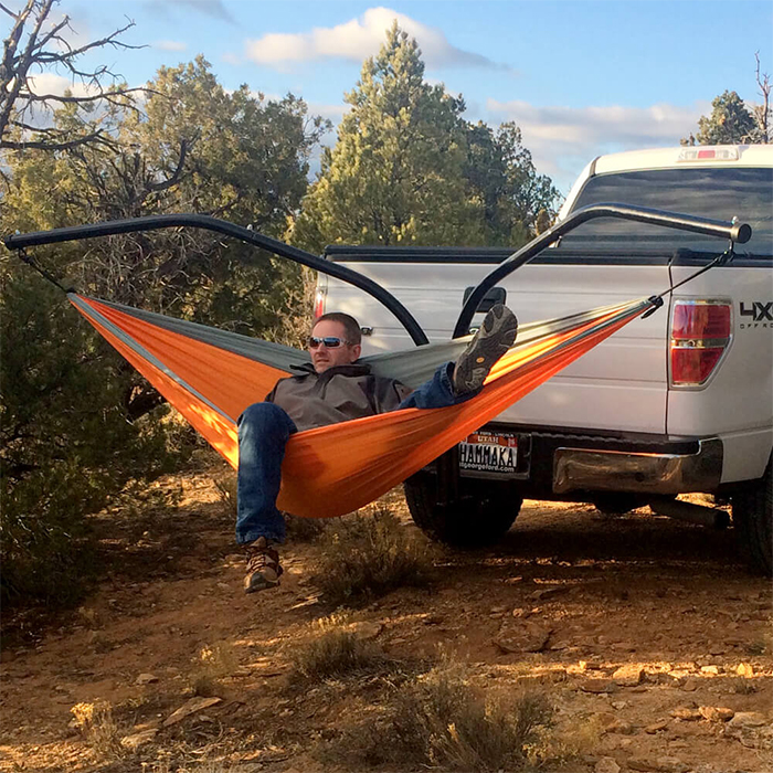 truck suv tailgate hanging bed attachment