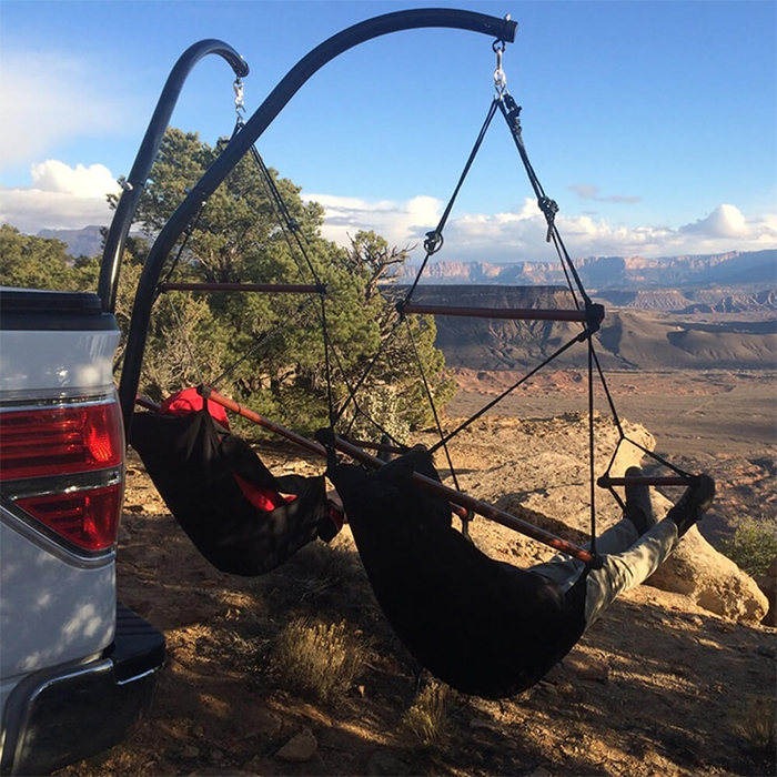 truck suv tailgate hanging chair attachment