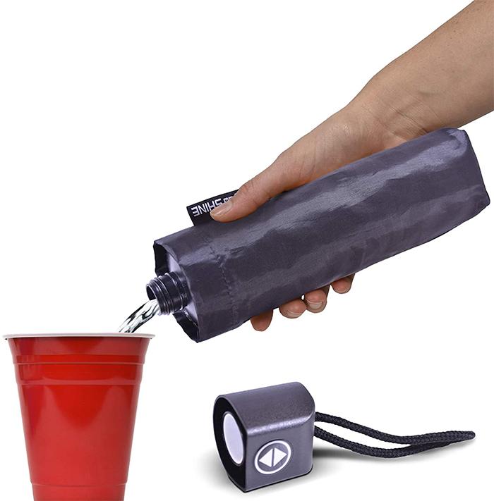 umbrella flask sneak booze