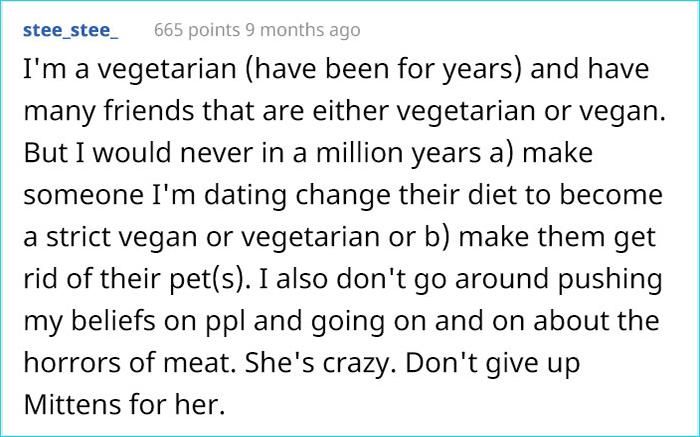 vegan gf demands man to give away his cat comment stee_steee