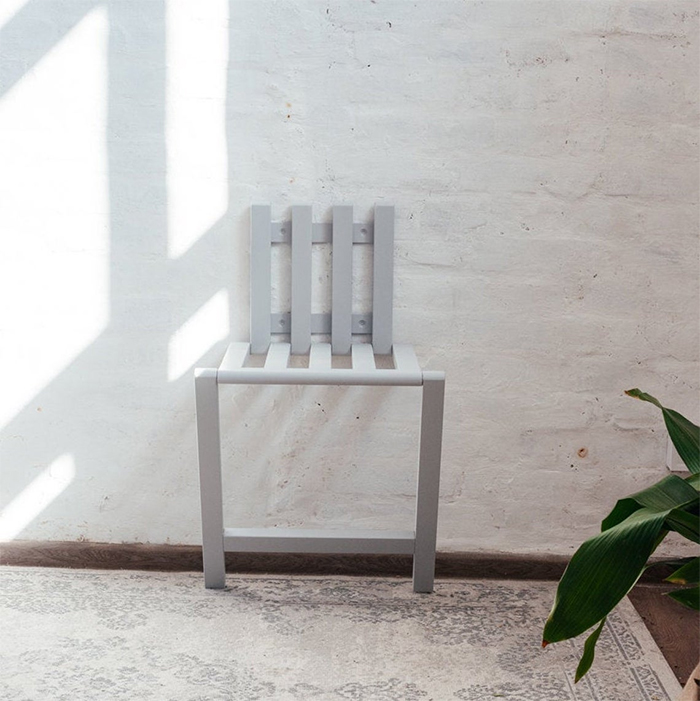 wall mounted folding chair wooden white