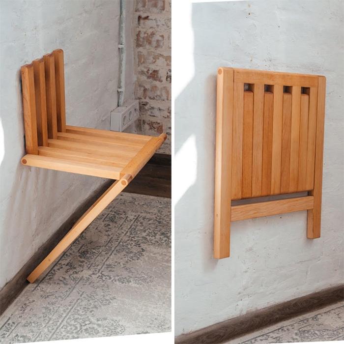 wall mounted folding chair