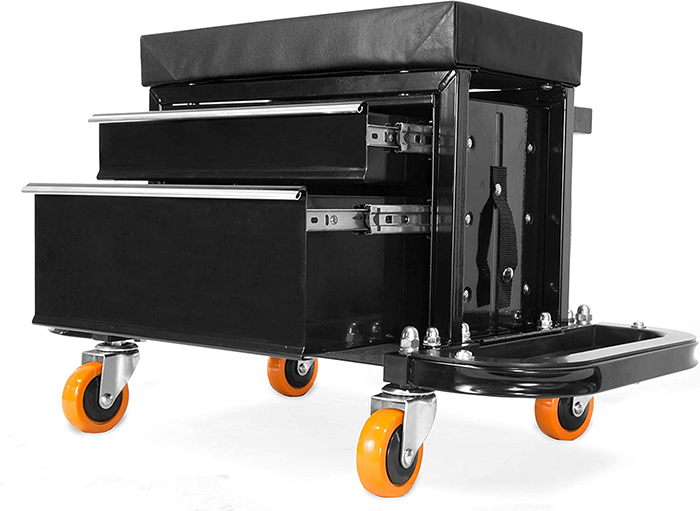 wheeled stool chair 400-lb capacity